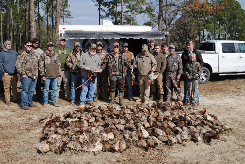 GHFF Pheasant Shoot Group Picture with 166 Pheasants February 4th, 2017