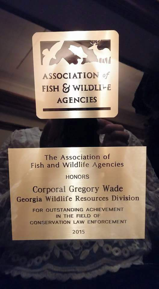 Association of Fish and Wildlife Agencies Conservation Law Enforcement Award
