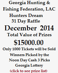 Hunters Dream 31 Day Raffle December 2014 - Click to see Prize List