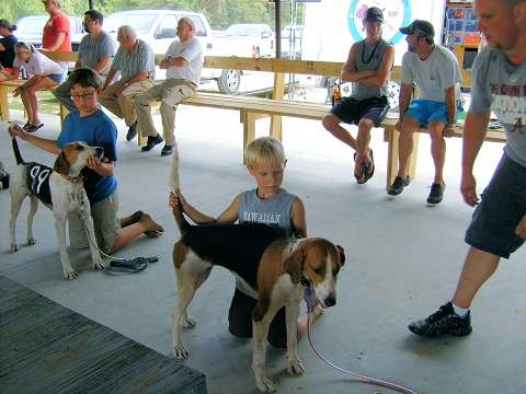Kid's handling class is always enjoyed by all the kids and spectators!