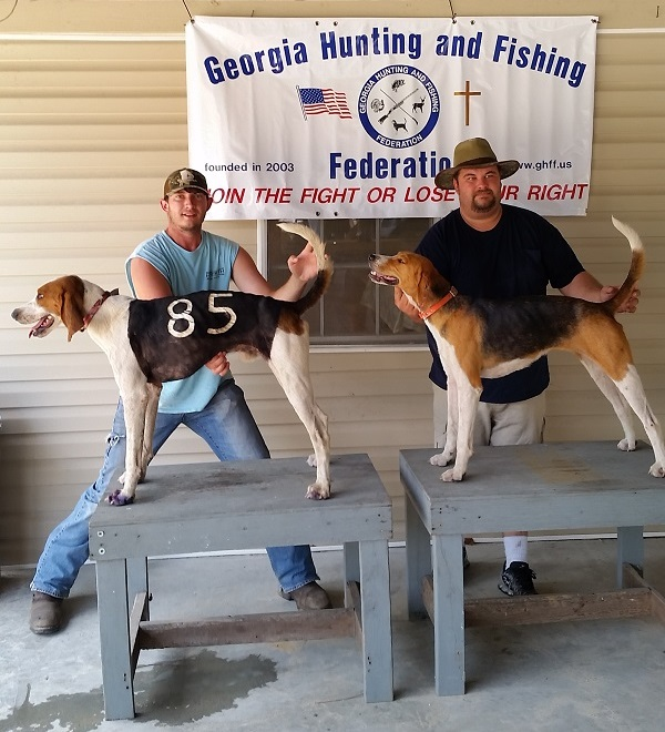 1st place HGA Mincey's Big Show Wes Mincey, 2nd place Platinum South Bryan and Tubby