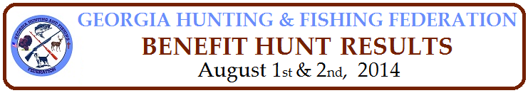 Benefit Hunt for Georgia Hunting & Fishing Federation LAC Fund