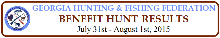 GHFF Benefit Hunt Results 2015