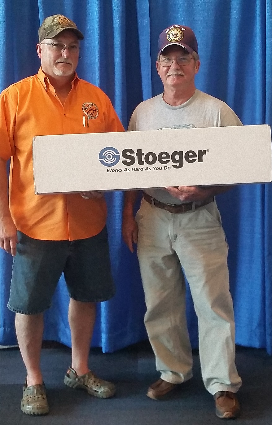 Mike Broyles won the 20 gauge shotgun in the GHFF raffle 7/26/2015 at the GON OUTDOOR BLAST