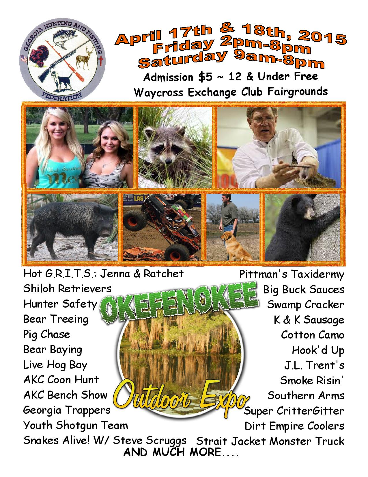 Okefenokee Outdoor Expo April 17th & 18th