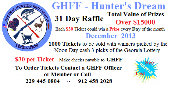 GHFF Hunters Dream - 31 Day Raffle - December 2013