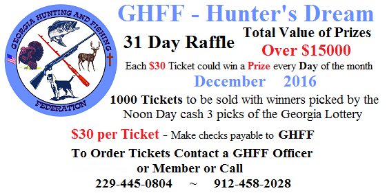 Hunters Dream Raffle - December 2016