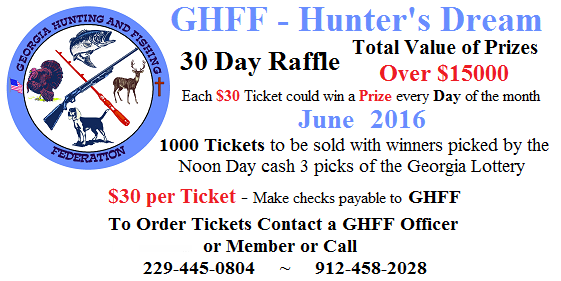 Hunters Dream Raffle - June 2016