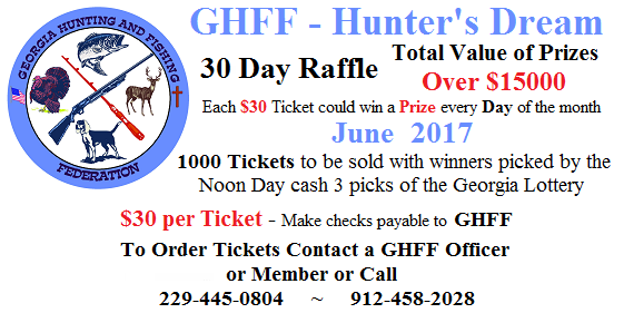 Hunters Dream Raffle - June 2017