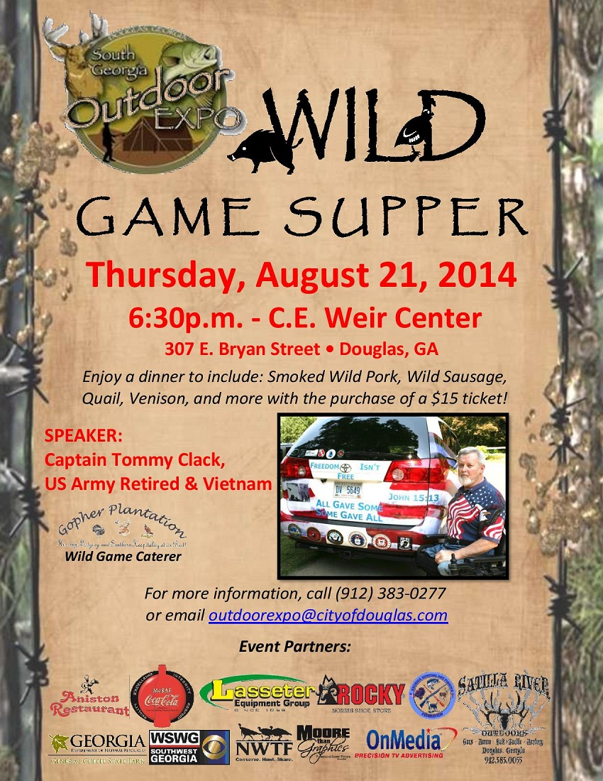 South Georgia Outdoor Expo - Wild Game Supper