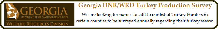 Georgia DNR/WRD Turkey Production Survey