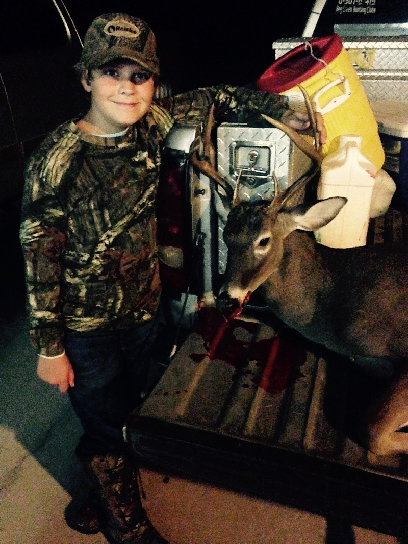 10 year old Jake Grantham of Willacoochee with a nice Atkinson County 7 point
