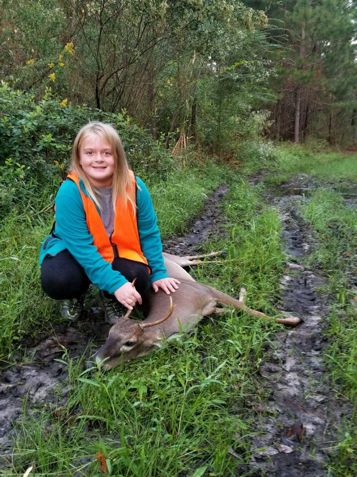 Khloe Neugent killed her first deer while hunting with her father Kevin Neugent