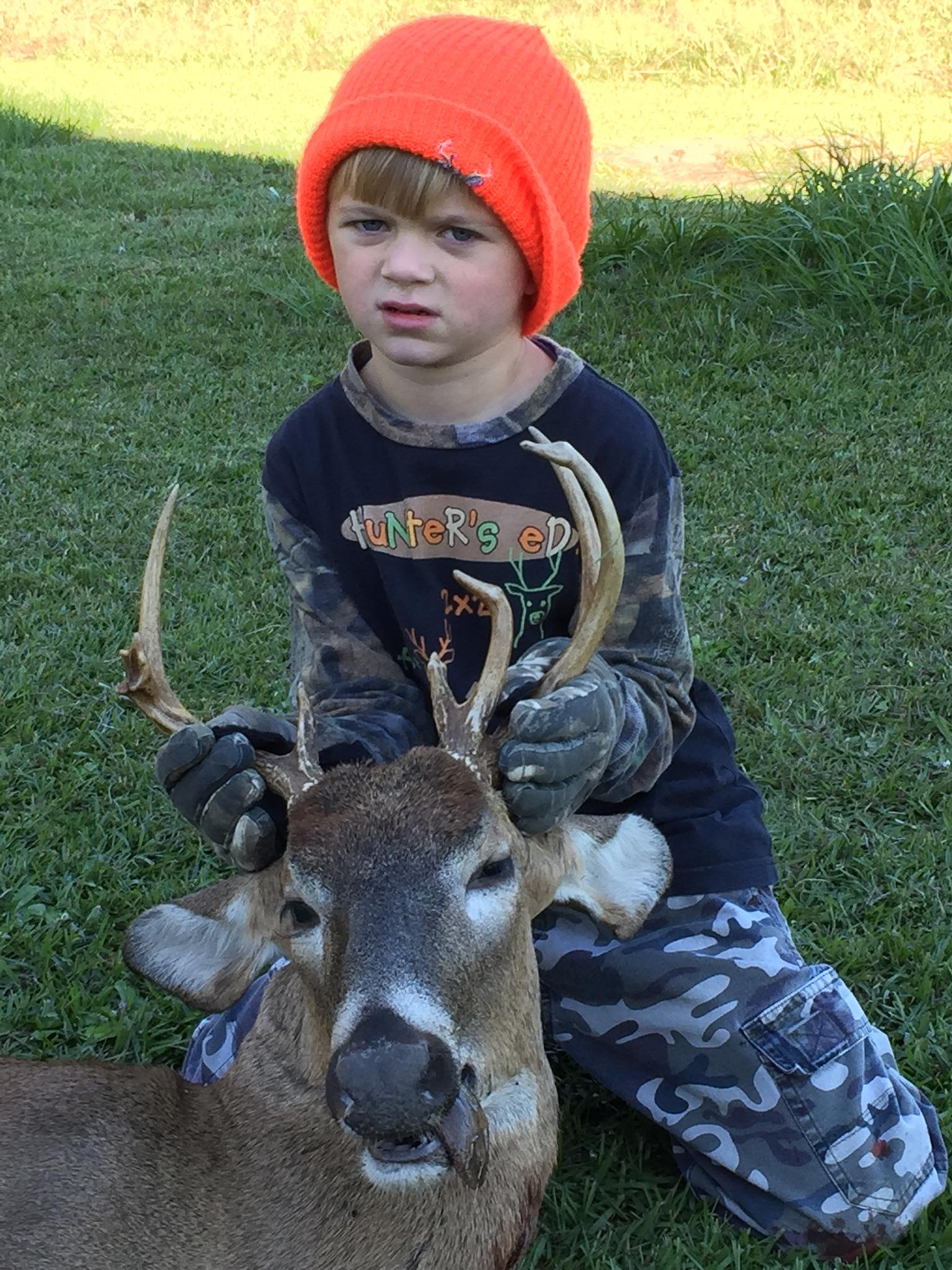 Rider Abbott, 5 years old killed his 1st Buck