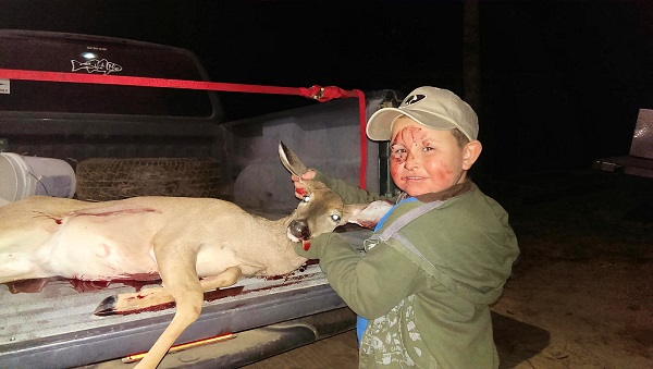 Tucker Sheets 5 killed his first deer 11/8/2014 in Emanuel County