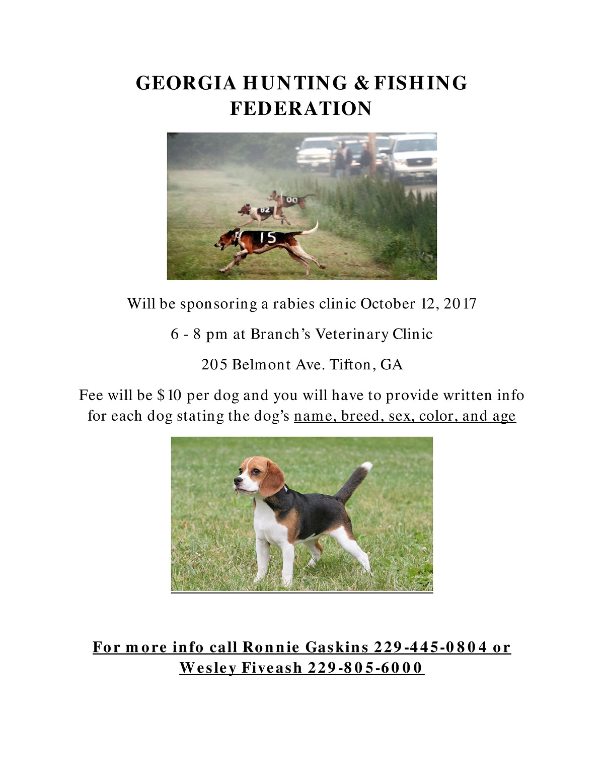 Georgia Hunting & Fishing Federation Rabies Clinic